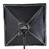 Studio flash on a stand over isolated white background Stock Image