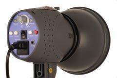 Studio Flash unit. Modern flash strobe unit used in a photography studio royalty free stock image