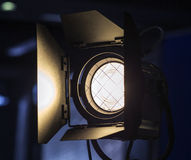 Studio flash. Video Light. The Professional equipment Stock Photos