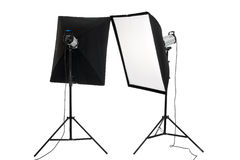 Studio flashes Stock Image