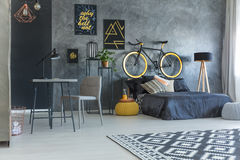 Studio flat for hipster Royalty Free Stock Photo