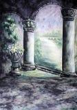 Studio-Fotographie drapierter Musselin-Hintergrund lizenzfreie abbildung