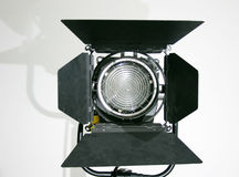 Studio Fresnel Lamp. Film TV Fresnel Lamp with barndoors Royalty Free Stock Images