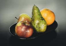 Studio, Fruit, Apple, Pear, Orange Royalty Free Stock Photo