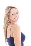 Studio geschossen von der schönen blonden Frau Lizenzfreie Stockfotografie