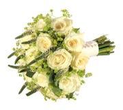 Studio geschossen worden vom Hochzeitsblumenstrauß einer Braut Lizenzfreies Stockfoto