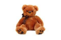 Studio horizontal tiré du jouet d'ours brun Image stock