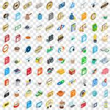 100 studio icons set, isometric 3d style. 100 studio icons set in isometric 3d style for any design vector illustration stock illustration