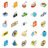 Studio icons set, isometric style. Studio icons set. Isometric set of 25 studio vector icons for web isolated on white background Royalty Free Stock Image