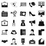 Studio icons set, simple style Royalty Free Stock Photo