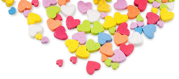 Studio image Valentine hearts Royalty Free Stock Photography