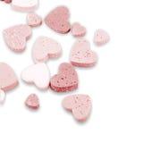 Studio image Valentine hearts Stock Images