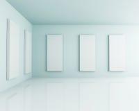 Studio interno bianco della stanza 3D Immagine Stock