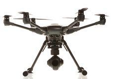 Studio isolated photo of heksacopter drone.  royalty free stock photography