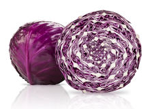 Studio Isolated Red Cabbage Stock Image