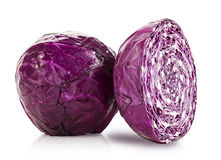 Studio Isolated Red Cabbage Stock Photos