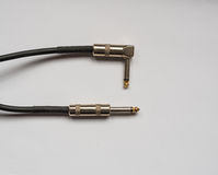 Studio jack audio or instrument cable for music instruments Royalty Free Stock Photography