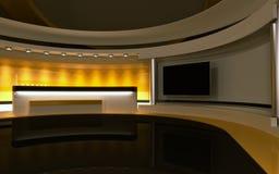 Studio jaune Photographie stock libre de droits