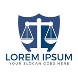 Studio legale o progettazione di logo di servizio di legge royalty illustrazione gratis