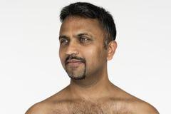 Studio-Leute-Trieb-Porträt lokalisiert auf Weiß Lizenzfreie Stockbilder
