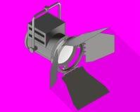 Studio light isometric flat vector Royalty Free Stock Images