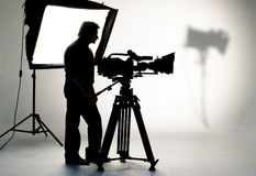 Studio light on location for movie scene. Royalty Free Stock Images