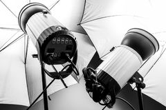 Studio light for photography royalty free stock photography