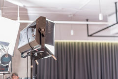 Studio light of professional video production on stage with nobo Royalty Free Stock Photography