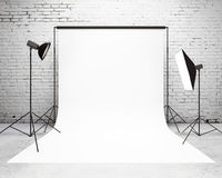 Studio with a light set-up Stock Photography