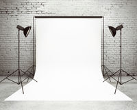 Studio with a light set-up Royalty Free Stock Photography