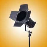 Studio light stand isolated on the white Royalty Free Stock Photography