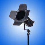 Studio light stand  on  white Stock Photo