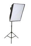Studio lighting. Isolated on the white background stock photo