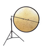 Studio lighting. Isolated on the white background stock photography
