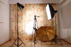 Studio lighting Stock Photography