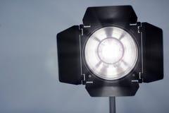 Studio lighting against gray background. Professional photo equipment stock photos