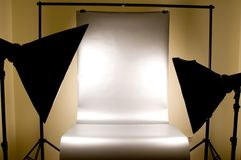 Studio lighting with background stock photography