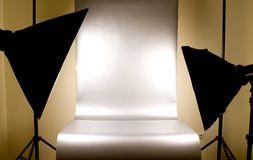 Studio lighting with background stock photos