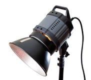 Studio lighting equipment. Isolated on white royalty free stock images
