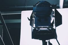 Studio lighting equipment. Close up of Studio lighting equipment stock photos