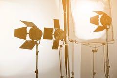 Studio lighting equipment. Detail of Studio lighting equipment royalty free stock photos