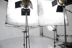 Studio lighting equipment. Image of Studio lighting equipment background Royalty Free Stock Photo