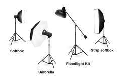 Studio lighting equipment  on white Stock Image