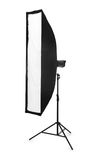 Studio lighting isolated on the white Royalty Free Stock Photography