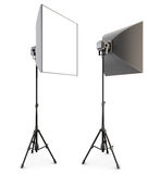 Studio lighting isolated on the white background. Soft box. 3d. Stock Image