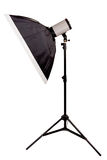 Studio lighting with softbox on the white background Stock Images