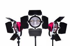 Studio lighting. On white background royalty free stock photography