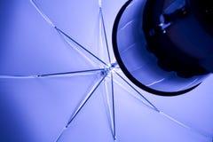 Studio Lights. White studio light with umbrella Stock Image