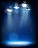 Studio Lights. Vector illustration. Royalty Free Stock Image