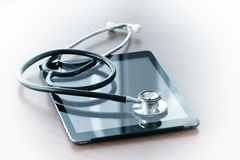 Studio macro of a stethoscope and digital tablet with shallow DO Royalty Free Stock Image